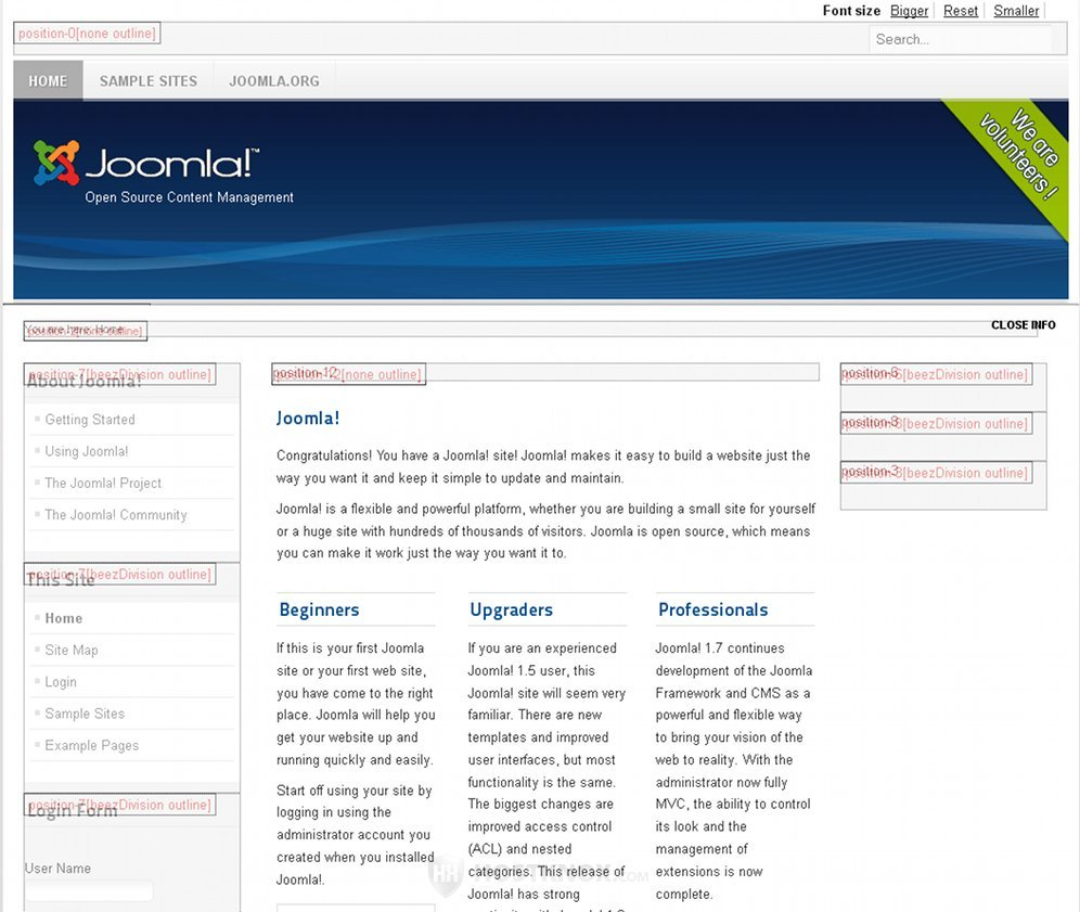 joomla backend templates - hostknox joomla module positions tutorial