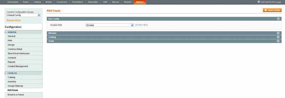 how to change footer links in magento