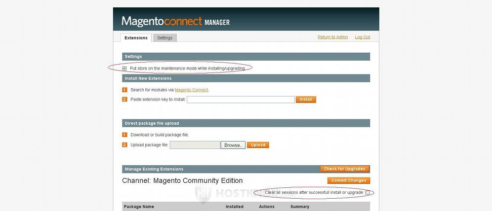 HostKnox :: Magento Upgrade with Connect Manager Tutorial